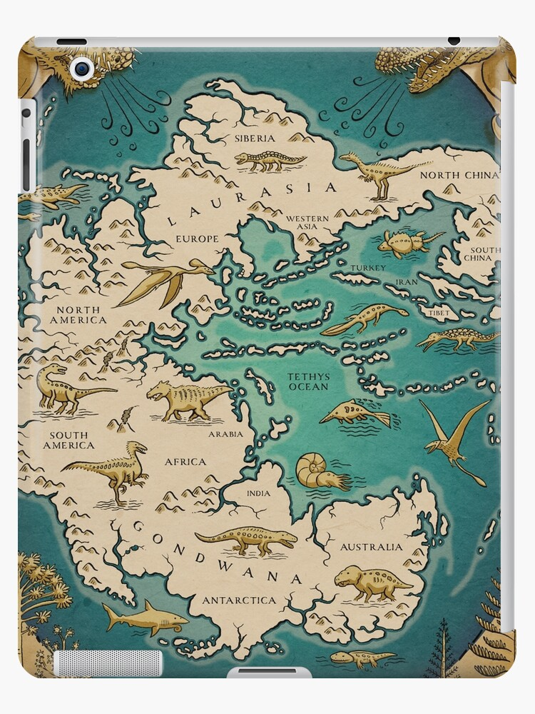 Map Of The Supercontinent Pangaea IPad Cases Skins By Richard - Pangaea map
