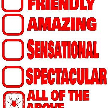 Amazing, friendly, sensational, spectacular Spider Superhero shirt by kmpfanworks