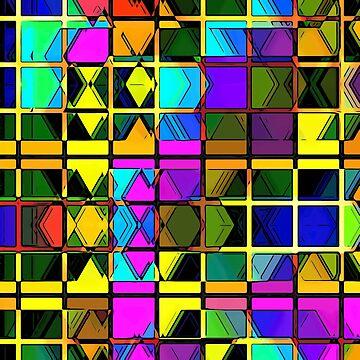 Abstract Art Pattern Geometry Pattern Tshirt Gift by Netsrikfa