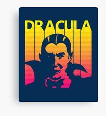 Retro 1980s Dracula Canvas Print