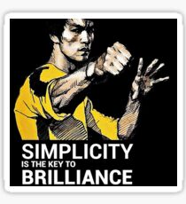 Simplicity is the key to Brilliance Bruce Lee Quote Sticker