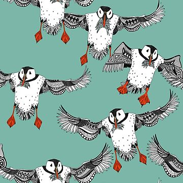 Atlantic Puffins mint by scrummy