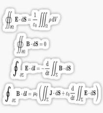 Maxwell's equations, #Maxwells, #equations, #MaxwellsEquations, Maxwell, equation, MaxwellEquations, #Physics, Electricity, Electrodynamics, Electromagnetism Sticker