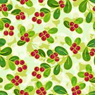 Cranberry Fruit Pattern on Green by tanyadraws