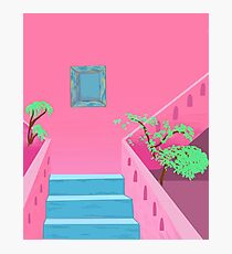 pink scapes in mexico Photographic Print