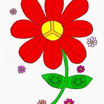 Hippy Happy Flower by Lulabella