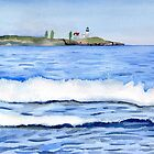 Nubble Lighthouse seen from York Beach by Sandra Connelly