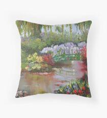 Giverny - Monet's Garden Throw Pillow