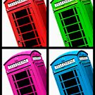 British Phone box 4 up multicoloured by Phillip Shannon