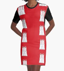 Flag of Hamburg Germany Graphic T-Shirt Dress