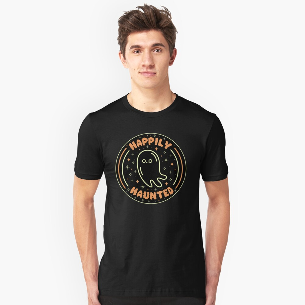 Happily Haunted Slim Fit T-Shirt