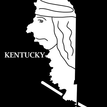 A funny map of Kentucky by funnymaps
