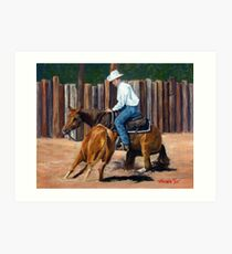 Cutting Horse Quarter Horse Portrait Art Print