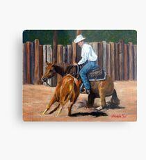 Cutting Horse Quarter Horse Portrait Metal Print