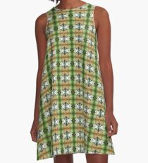The Coming Green A-Line Dress