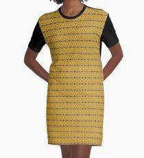 Gold Leaf Graphic T-Shirt Dress