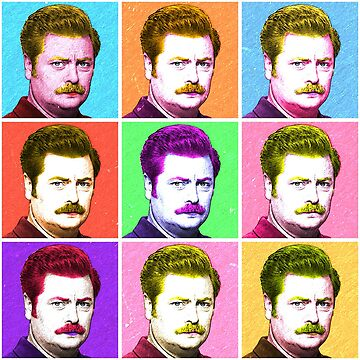 Ron Swanson Diptych  by whermansehr