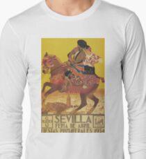 Seville Spain Vintage Travel Poster Long Sleeve T-Shirt