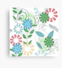 Floral With Dragonfly 0021 Canvas Print