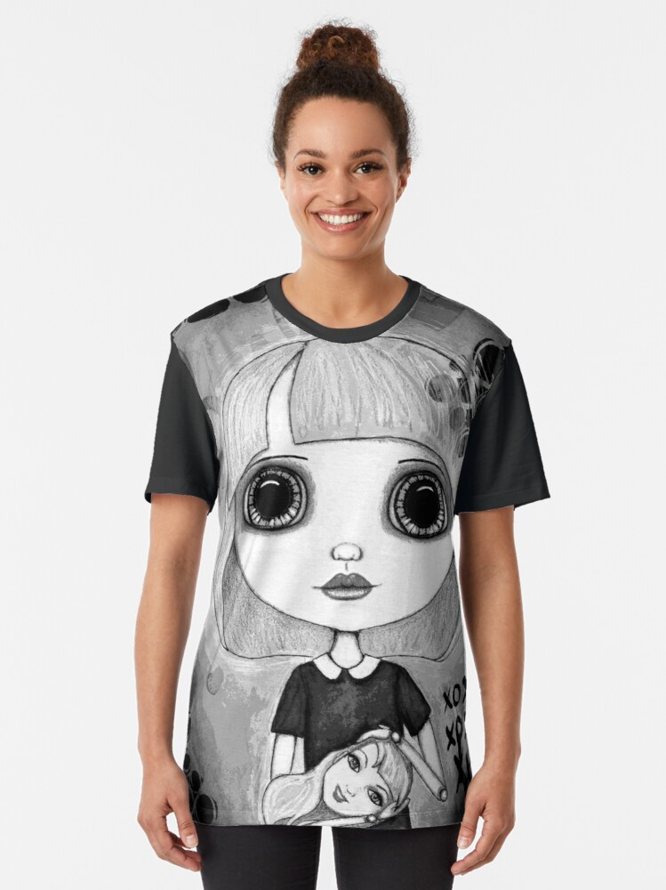 Alternate view of Number One Fan (Black & White Version) Graphic T-Shirt