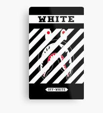 Off White x White Shark Metal Print