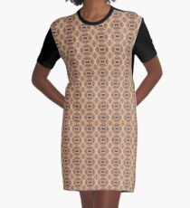 Twisted Graphic T-Shirt Dress
