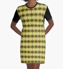 Wet Look Graphic T-Shirt Dress