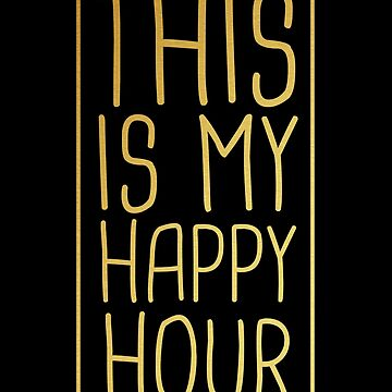 This Is My Happy Hour Pilates T-Shirt Funny Gold Trendy by 14thFloor