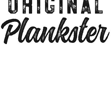 Original Plankster Funny Pilates T-Shirt for Women Fitness by 14thFloor