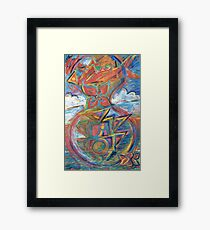 The Time-Glass Framed Print