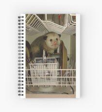 Dishwasher Possum  Spiral Notebook