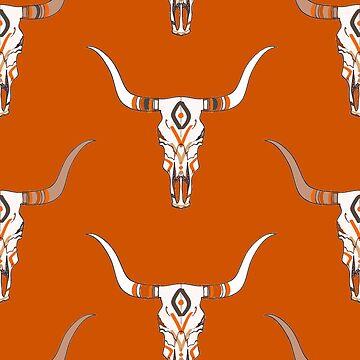 Tribal Longhorn Dress 2 by CollegeTown