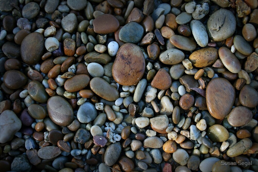 River Pebbles by Susan Segal