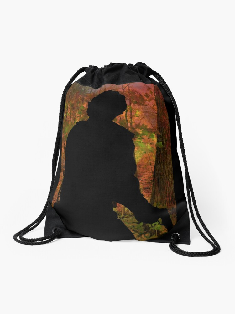 2d321c836 Bob Morley in cryptic forest | Drawstring Bag