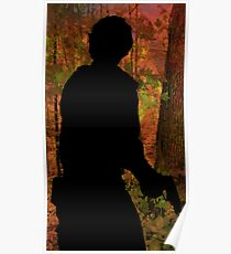 Bob Morley in cryptic forest  Poster