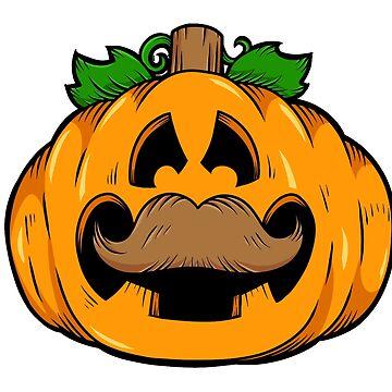 Pumpkin Head Halloween Gamer Head by bsanczel