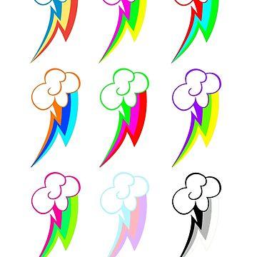 Rainbow dash Pop Art  by XwolfskaX
