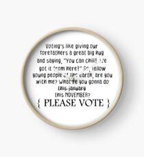 Vote, dude! Clock