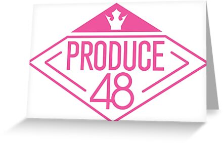 PRODUCE 48 LOGO Greeting Cards By WANNA ONE AND IZONE SHOP