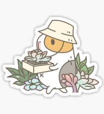 Bubu the Guinea Pig, Succulent Love Sticker