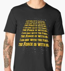the force is with me  Men's Premium T-Shirt
