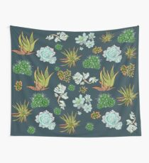 Succulent and Cacti Wall Tapestry