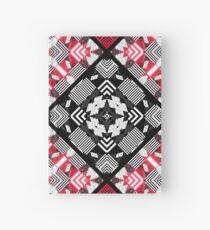 Red black patchwork Hardcover Journal