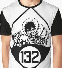 Nebraska State Highway N-132 (1926) | United States Highway Shield Sign Sticker Graphic T-Shirt