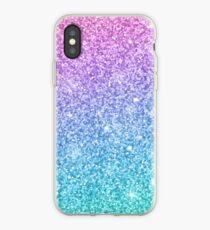 Purple Turquoise Glitter Ombre iPhone Case cd49b971c8