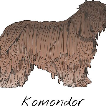 Komondor Vintage Style Drawing by efomylod