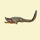 Dangerous alligator water animals by hutofdesigns