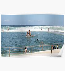 Newcastle Ocean Baths Poster