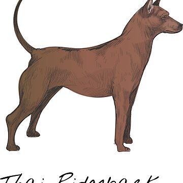 Thai Ridgeback Vintage Style Drawing by efomylod