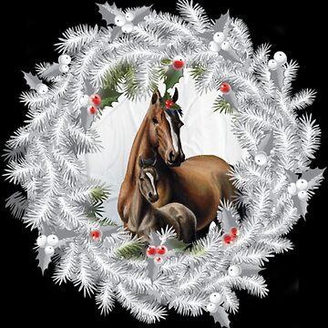 Horse wreath by NovaPaint
